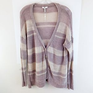 Joie Linen Cardigan Sweater Striped Button Down M